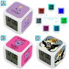 Space Princess Adventure Time Cartoon Alarm Digital Clock 7 LED Color Changing