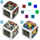 Joker Batman Superhero Comics Alarm Digital Clock 7 LED Color Changing Light