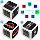 VHS Tape Rocky Dinosaur Park Alarm Digital Clock 7 LED Color Changing Light