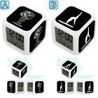 Gymnastics Balance Beam Volleyball Alarm Digital Clock 7 LED Color Changing