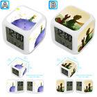 The Little Prince Cartoon Alarm Digital Clock 7 LED Color Changing Light