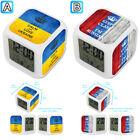 Keep Calm Love Russia Ukraine Alarm Digital Clock 7 LED Color Changing Light