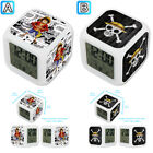 One Piece Anime Cartoon Alarm Digital Clock 7 LED Color Changing Light