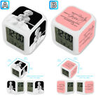 Marilyn Monroe Imperfect Is Beauty Alarm Digital Clock 7 LED Color Changing