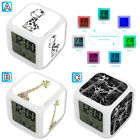 Many Giraffe Cute Animal Alarm Digital Clock 7 LED Color Changing