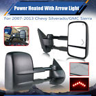 Fit 07-13 Chevy Silverado 1500 2500 3500 Towing Mirrors Power Heated With Signal