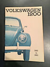 Volkswagen VW Beetle Bug 1200 Owners Manual 1960 1961 1962 1963 1964 1965; NOS;