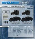 Mercruiser 7.4L Bravo 7.4LX Bravo V8 Exhaust Manifold & riser package set elbow