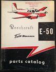 Beechcraft Twin-Bonanza Parts Catalog for Model E-50, 1958, Part No. 50-590041-7