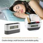 New Desk Digital Alarm Clock Pen Holder Calendar Thermometer Timer Gifts 2019