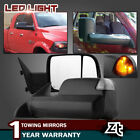 Power Heated Led Signal [2009 Style] Tow Mirrors Fit 2003-09 Dodge Ram 2500 3500
