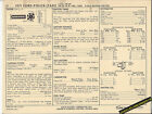 1971 FORD POLICE/TAXI 6 Cylinder 140 hp / 240 ci Car SUN ELECTRONIC SPEC SHEET
