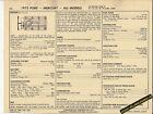 1973 FORD MERCURY ALL MODELS 351 ci CODE H Mustang Car SUN ELECTRONIC SPEC SHEET