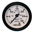 "12903 Faria Euro White 2"" Water Pressure Gauge Kit 30 PSI"