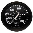 "32812 Faria Euro Black 4"" Speedometer 80MPH Mechanical"