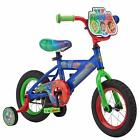 "Boy's 12"" Bicycle, Blue, Training Wheels, Colorful"