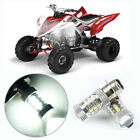 SUPER WHITE 80 Watt LED HEADLIGHTS BULBS FOR YAMAHA RAPTOR 660