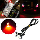2x Red Hawkeye Eagle Eye LED Light Lamp DRL Fit Boat Marine Car Motorcycle