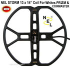 """NEW NEL STORM 13 x 14"""" DD Search Coil For Whites PRIZM 3, 4, 5, 6 and COINMASTER"""
