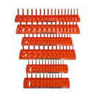 Hansen Global 92002 SAE & Metric, 2-Row Socket Tray Set - 6-Pieces, Orange
