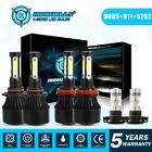 9005 H11 5202 LED Headlight 4-sides Bulbs Kit Combo for Chevy Colorado 2015-2018