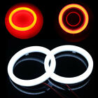 2Pcs 60MM COB LED Headlights DRL Halo Ring Angel Eyes Fog Projector Red Lamp