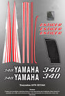 YAMAHA 1979 ET340 ENTICER SNOWMOBILE GRAPHIC DECAL SET