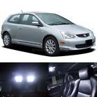 7x White LED Lights Interior Package for Honda CIVIC 2001-2005 Sedan EX Hatch SI