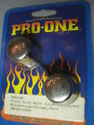 PRO-ONE Harley Davidson Smooth Chrome Front Axle Bolt Covers Tapered 602140