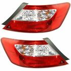 New Tail Light Lamp Set of 2 Left & Right Side Clear red lens Coupe Pair