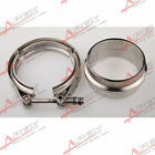 4'' V-Band Flange & Clamp Kit for Turbo Exhaust Downpipes Mild Steel Flange