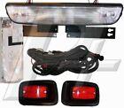 EZGO Golf Cart Headlight Bar and Tail Light Kit with Hardware, EZGO Headlight