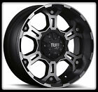 "16"" X 8"" TUFF T03 BLACK RIMS W/ LT255/70/16 BFGOODRICH M/T KM2 WHEELS TIRES"