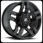 "18"" FUEL D515 PUMP BLACK RIMS & NITTO 255-60-18 TERRA GRAPPLER TIRES WHEELS"