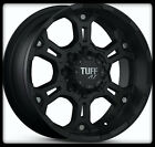 "17"" X 8"" TUFF T03 BLACK W/ LT235/8017 BFGOODRICH TA KO ALL TERRAIN WHEELS TIRES"