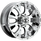 17x8 Chrome Xtreme NX-2 8x6.5 +0 Rims Toyo Open Country AT II LT265/70R17