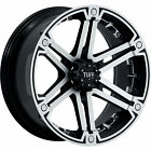 17x8 Machined Black Tuff T01 6x5.5 +20 Wheels Federal Couragia MT LT285/70R17