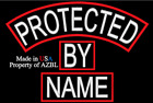CUSTOM EMBROIDERED PATCH SET PROTECTED BY NAME TAG PATCH SET MADE IN USA