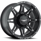 17x9 Matte Black American Eagle 27 6x135 & 6x5.5 +2 Wheels Trail Grappler