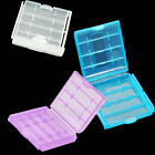 4 pcs protable Hard Plastic Case Holder Storage Box For AA AAA Battery New