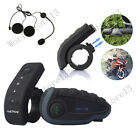 Motorcycle Helmet Remote Interphone Bluetooth Multi Intercom Headset FM NFC 1200