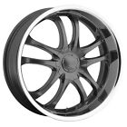 "20"" MSR 085 GREY 4X100 & 225-30-20 TIRES COBALT CIVIC HYBRID BASE G5 WHEELS RIMS"