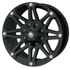 "18"" MAYHEM RIOT 5X150 RIMS WITH 37X13.50X18 TOYO OPEN COUNTRY MT WHEELS TIRES"