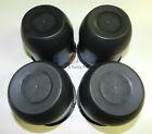 "(4) Black Trailer Wheel Hub Center Cap 4.25"" diameter Travel Trailer, Camper RV"
