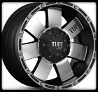 "16"" X 8"" TUFF T02 BLACK RIMS W/ P265-70-16 FEDERAL COURAGIA A/T WHEELS TIRES"
