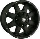 "18"" MAYHEM CHAOS 8X180 RIMS WITH 265-70-18 NITTO TERRA GRAPPLER WHEELS TIRES"