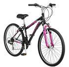 "26"" Schwinn Mountain Bike Women's Adult Kid Girls Bicycle Matte Black Pink NEW"