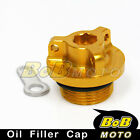 Gold Racing Plug Oil Filler Cap Kawasaki ER-6F Ninja 650R 2008-2013