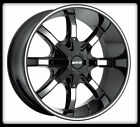 "20"" MKW M81 BLACK MACHINED RIMS & NITTO LT325-60-20 TERRA GRAPPLER TIRES WHEELS"
