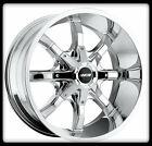 "17"" MKW OFFROAD M81 CHROME RIMS & NITTO LT285-70-17 TRAIL GRAPPLER TIRES WHEELS"
